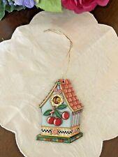 New Old Stock Mary Engelbreit Christmas Everyday Ornament Bird House & Cherries