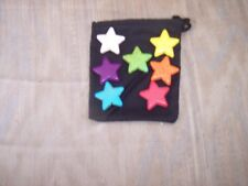 CHAKRA MEDITATION---Star Shaped Stones & Cloth Bag--Wicca--Includes Instructions