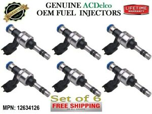 6x Fuel Injectors OEM ACDelco for Chevrolet Buick Cadillac GMC 3.6 V6 #12634126