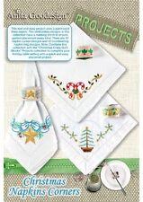 Anita Goodesign Christmas Napkin Corners Embroidery Machine Design CD