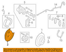 SUBARU OEM 00-09 Legacy Rear Brake-Backing Plate Splash Dust Shield 26704AE050