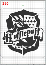 Harry Potter HufflePuff House Emblem Stencil MYLAR A4 sheet strong reusable Deco