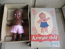 "12"" Vintage Composition Black Kewpie In Original Box"