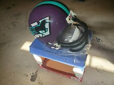 EXTREMELY RARE VINTAGE MILWAUKEE MUSTANGS HELMET BY RIDDELL New in Box