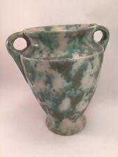 Vintage Burley Winter Pottery Co Double Handled Vase #45 Mottled Glaze