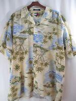 Joe Kealoha's Reyn Spooner size L large mens Hawaiian Shirt floral blue orange