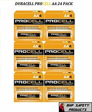 NEW DURACELL PROCELL AA ALKALINE BATTERIES 24 PACK *ALWAYS FRESH INVENTORY*