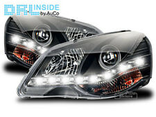 DRL R87 LED Headlights in Black Genuine DRL FOR VW Polo 9N3 2005-2009