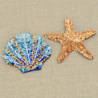 Cartoon Starfish Shell Patch Applique Sew-On Sewing Craft Decor Accessories