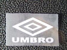 White Umbro Logo Retro Capital Letters Football Nameset 4 shirt Man Utd etc