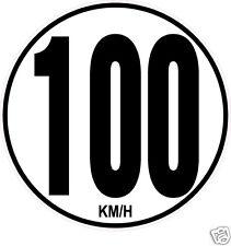 1 Limitation de Vitesse Autocars Tracteur Poids lourd 100KM/H adhésifs