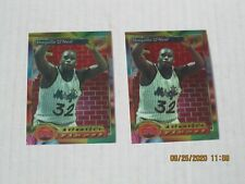 New listing 1993-94 TOPPS FINEST ATLANTIC'S SHAQUILLE O'NEAL  #99  (2) TWO  CARDS  EXCE COND