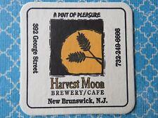 Beer Coaster Bar Mat ~*~ HARVEST MOON Brewery & Cafe ~ New Brunswick, NEW JERSEY