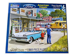 """White Mountain 1000 Piece Puzzle #1352 Made in USA """"Ford American Classic"""""""