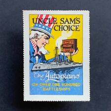 Poster Stamp * USA * 1915 The Autopiano US Battleships New York