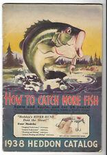 1938 HEDDON Fishing Tackle Lures, Reels, Poles Catalog Dowagiac, Michigan