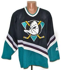 NHL ANAHEIM DUCKS ICE HOCKEY SHIRT JERSEY MAGLIA STARTER SIZE XL ADULT