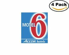 Motel 6 1 4 Stickers 4X4 inches Sticker Decal