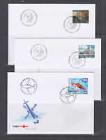 Switzerland Mi 1782/1807, 2002 issues, 6 complete sets in singles on 13 FDCs