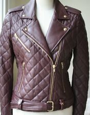 Iro keroa leather jacket fr 38 uk 10 us 6 it 42