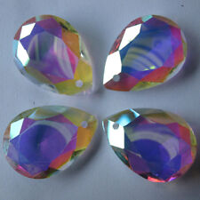 10pcs Colorful Glass Crystal Chandelier Ceiling Faceted Drop Pendant Lamp Prism