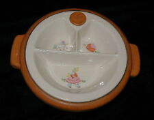 OLD LITTLE BO PEEP POTTERY BABY, CHILD'S DISH w RUBBER HOT WATER RESERVOIR