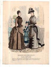1880 Original Magazin des Demoiselles bustle visit and reception toilettes