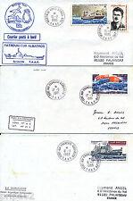 ET2792 - TIMBRES TAAF sur 4 Enveloppes Expéditions Polaires ou autres