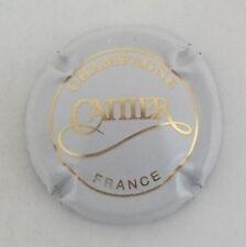 capsule champagne CATTIER n°5 blanc et or france en petit