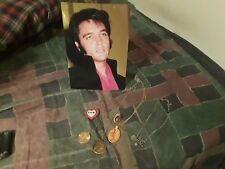 Elvis Presley Necklaces plus Ring and guitar plaque From Concert 1977
