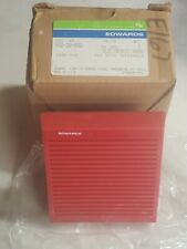 Edwards Electronic Fire Alarm Horn 882-2B-002-Red-24 VDC-New-School
