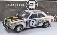 Ford Escort RS1600 Mk1 Safari Rally 1972 1/18 Escala Modelo por triple 9 Colección