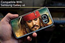 Johnny Depp Captain Jack Sparrow Hard Case Fits Samsung Galaxy S6