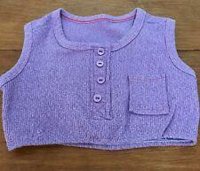 Vintage Crop Halter Top Disco Hippy Sleeveless Purple 1970s Toddler Girl Sz 4
