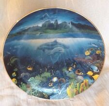Danbury Mint A Discovery Off Anahola - Underwater Paradise Plate 1991 Dolphins