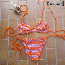 Häkelbikini Bikini crochet Hippie ethno Goa Ibiza brazil psy inde Strick S