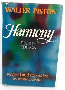 HARMONY WALTER PISTON 4th Fourth Edition 1978 Hardcover Dust Jacket