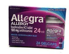 Allegra Allergy Relief Gelcaps 24 Count 180mg Exp 11/2019