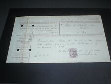 1899 Leeds The Pulsometer Engineering Co, Gold Medal (Calcutta 1883) Receipt