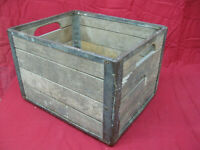 Vintage Wooden Milk Crate 9-49 Cumberland Case Co Chattanooga Tenn.
