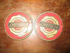 Chrysler Emblems X2 Gold and Red Metal Badge - General Mills Promotional 1950s
