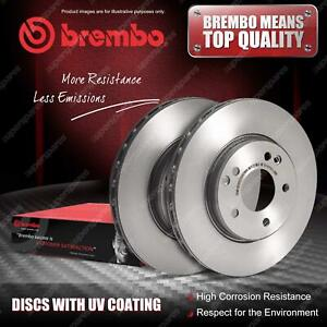 2x Front Brembo UV Coated Disc Brake Rotors for Renault Kadjar HA HL Koleos