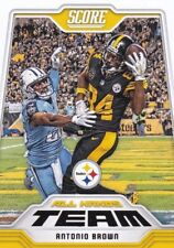 Two card lot 2018 Score FB Antonio Brown All Hands Team Pittsburgh Steelers