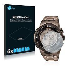 6x protection d'écran Casio Protrek prw-3000t-7jf Mens Watch Film Protecteur Clair