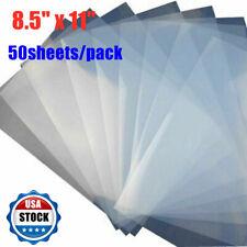 50 Sheets 85 X 11 Waterproof Inkjet Milky Transparency Film 5 Mil