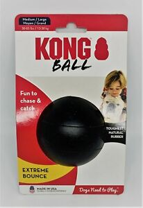 NEW Kong Extreme Ball with Hole Dog Toy - Med/Large. Tough USA made