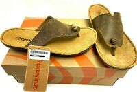 $90 Tamarindo Beachcomber Thong Sandal Leather Sz 7,8,8.5,9 NIB Shoes Brown Tan