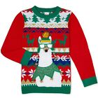 HOLIDAY TIME Kid's size XL(14-16) UGLY CHRISTMAS SWEATER Llama ~ New with Tags