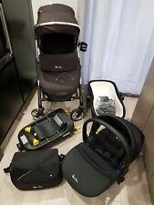 Silver Cross Wayfarer Travel System PushChair,Pram Cot, Car seat & Isofix Base