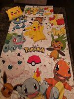 Pokemon Bed Set Single duvet cover, pillow case & cushion, kid/collector bedding